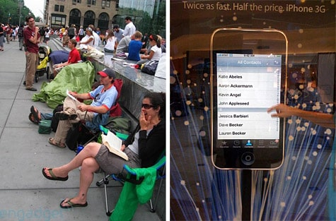 iPhone 3G queue forms in NYC, display details emerge
