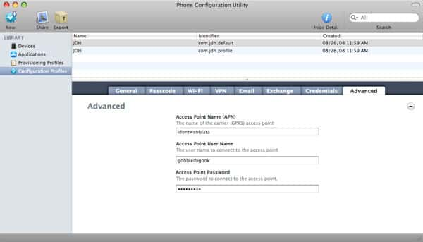Disabling data on iPhone 3G