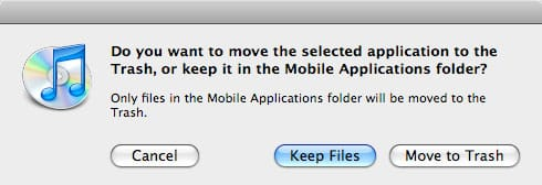 Cleaning up applications in iTunes