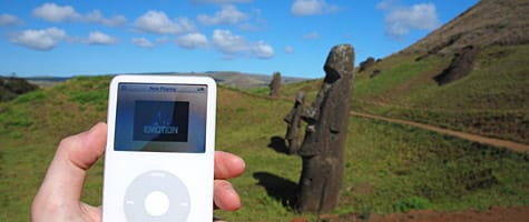 Photo of the Week: iPod at Easter Island