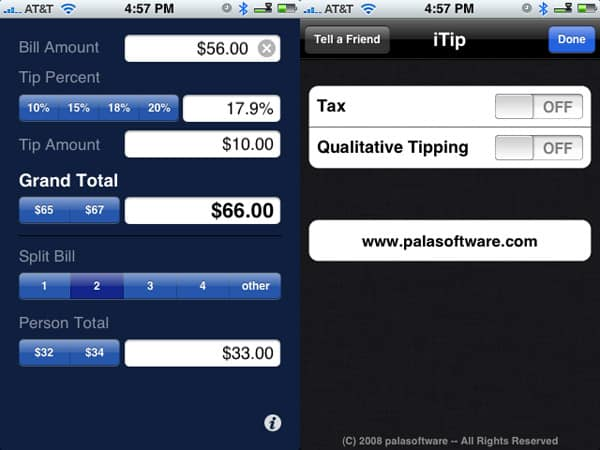 Review: iTip by palasoftware