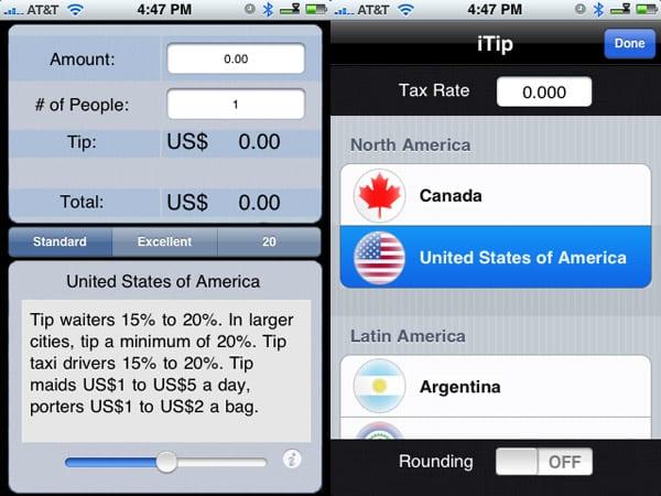 Review: International Tip Calculator by Vault 13 Studios