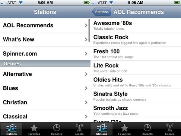Review: AOL Radio by AOL