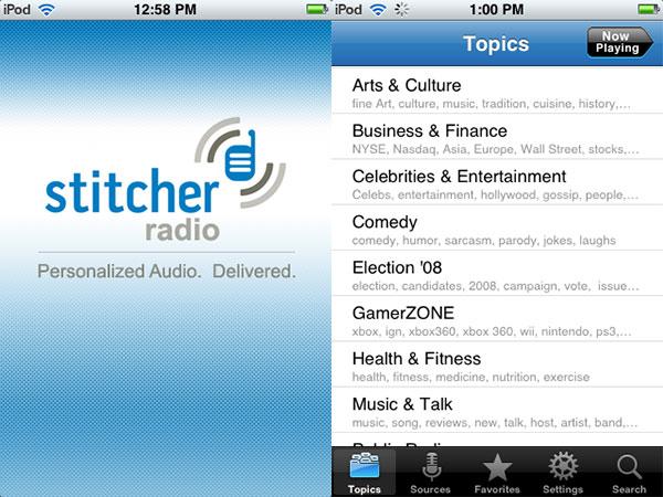Review: Stitcher Radio by Stitcher Inc.
