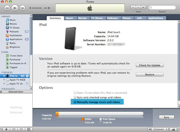 Transferring music on iPod touch from multiple computers