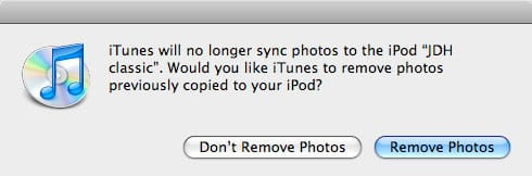 Managing photos on an iPod manually