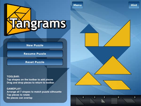 Review: Tangrams and Tangrams Lite by Brian Wuster