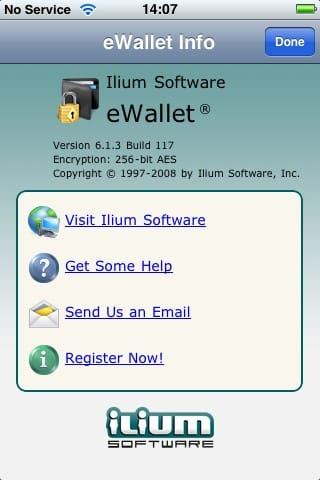 Review: eWallet v6.1.3 by Ilium Software