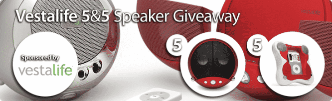 Vestalife 5&5 Speaker Giveaway – Winners Announced