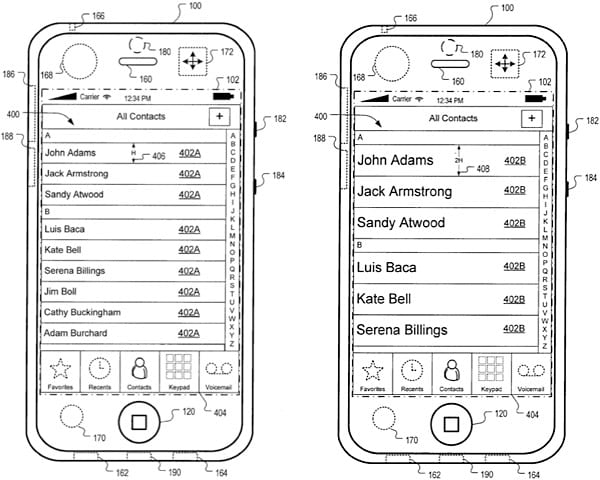 Apple patent points to motion-aware iPhone interface, video chat