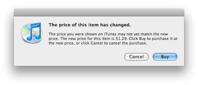 iTunes Store shifts song prices, many $1.29, few $0.69 tracks [updated]