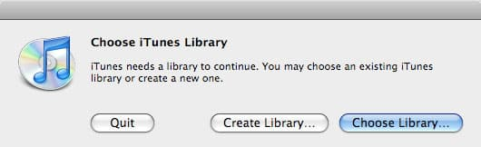 Using multiple iTunes libraries