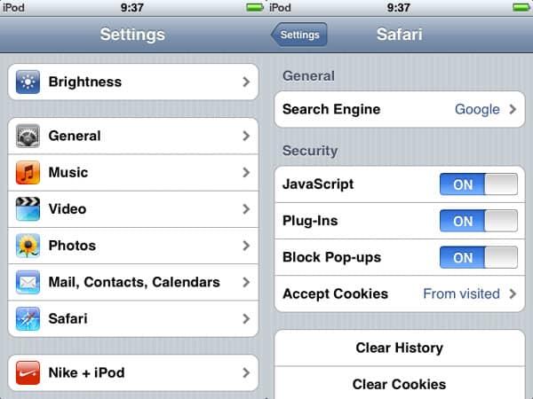Block pop-ups in Safari
