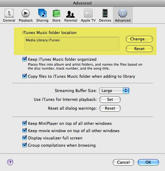 Sharing an iTunes library between multiple users on the same computer