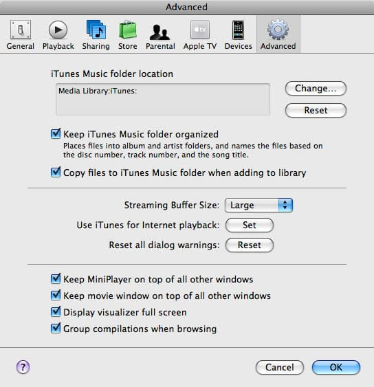 Reorganizing recovered tracks in iTunes