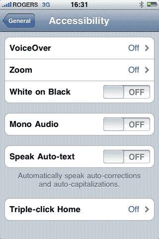 Enlarging text on iPhone 3GS