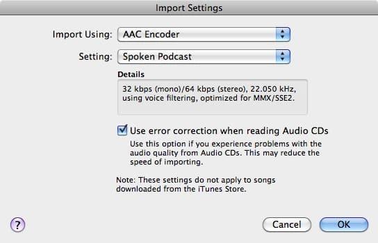 iPod capacity for audiobooks