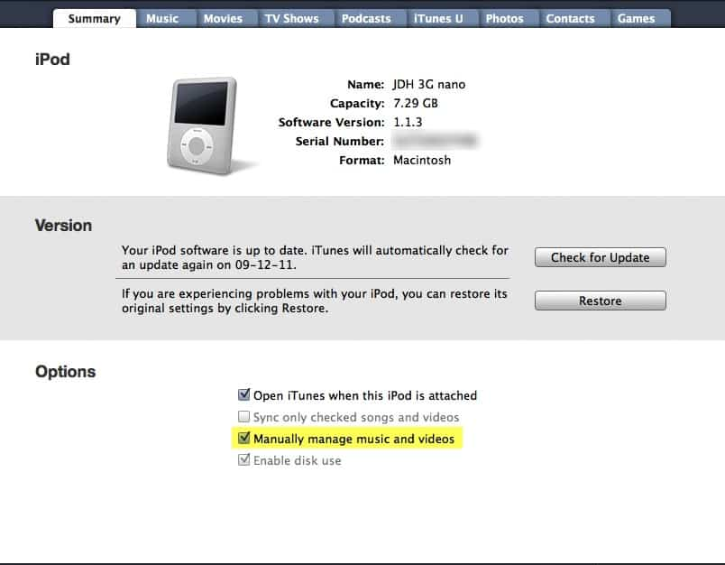 Syncing iPod with no Internet access