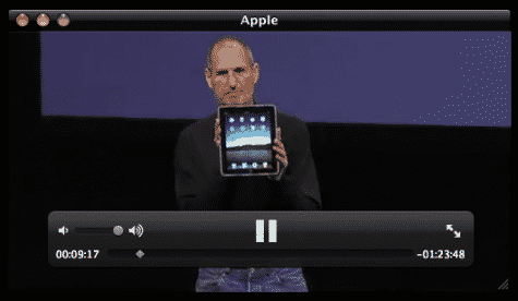 Quicktime video of iPad unveiling event now available