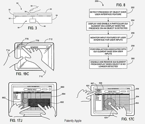 Apple patent points to proximity-based tablet interface