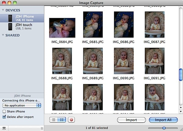 Transferring saved photos from iPod touch