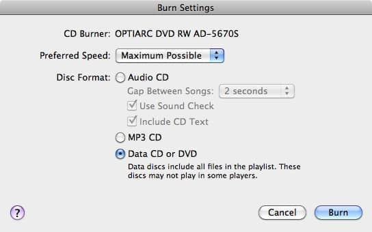 Backing up audiobooks to CD