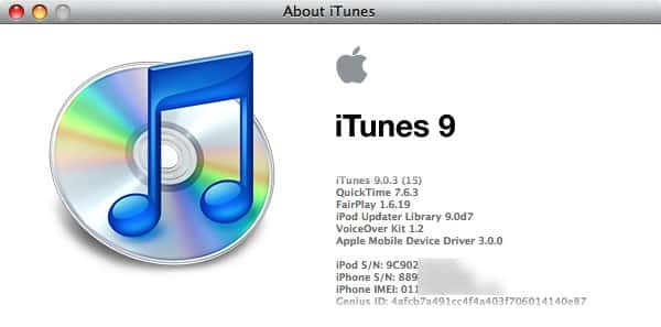 Recovering iPod serial number from iTunes