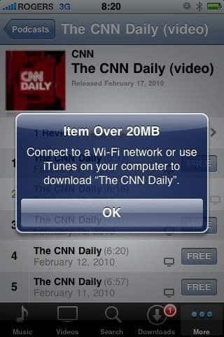 Apple bumps iPhone cellular download cap to 20MB