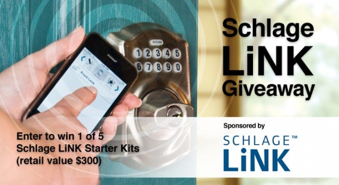 Schlage LiNK Giveaway – Winners Announced