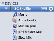 iPod shuffle shows no content