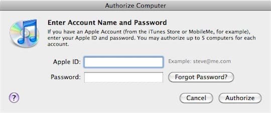 Switching Apple ID in iTunes