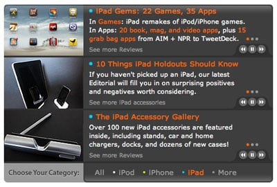 Site News: iPad replaces Apple TV on iLounge main page