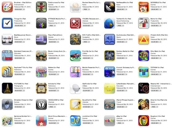 iPad Apps appear in App Store