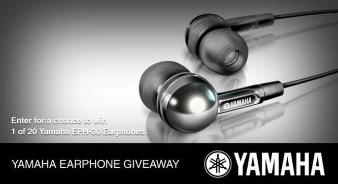 Yamaha Earphone Giveaway – Winners Announced