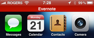 Evernote adds iOS 4 support, background recording