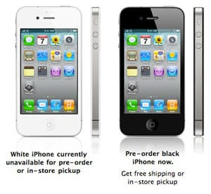 iPhone 4, 8GB iPhone 3GS pre-orders open, minus white [updated]