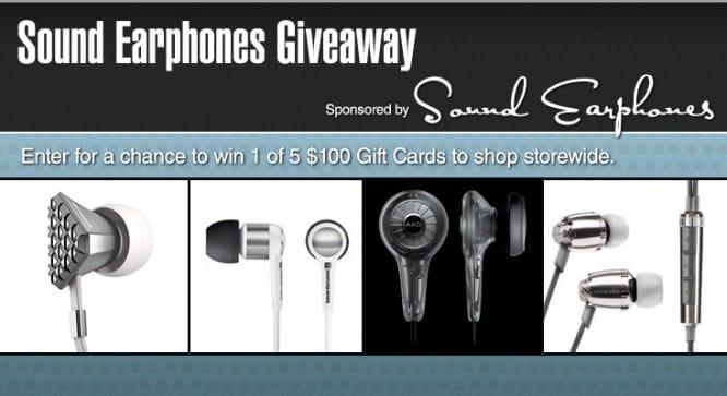 Sound Earphones Giveaway – Winners Announced