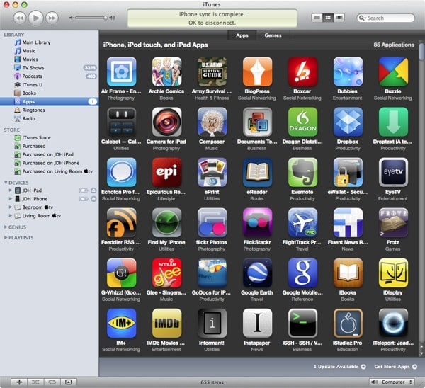 Deleting Apps from iTunes