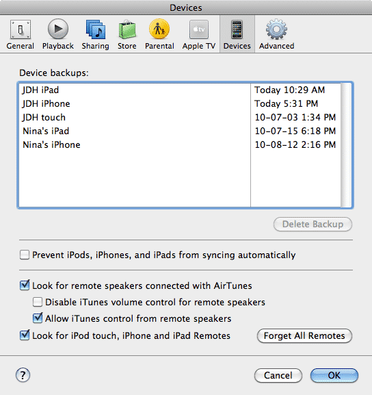 Converting an iPod touch from Windows to Mac