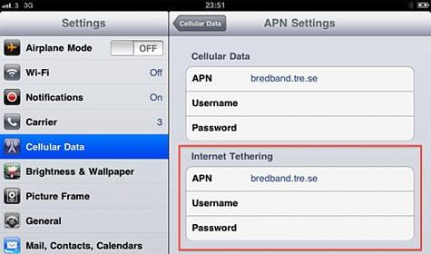 iPad tethering options found in iOS 4.2 beta 2