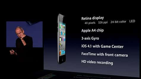 Apple intros FaceTime-capable iPod touch 4G