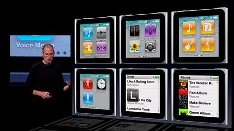 iPod nano 6G announced with Multi-Touch interface