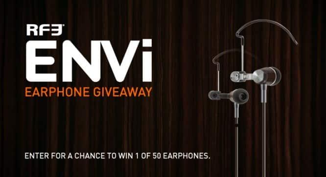 RF3 Envi Earphone Giveaway – Winners Announced