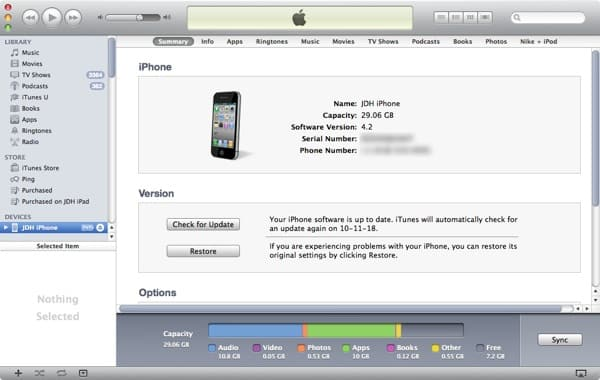 Restoring a locked iPod touch