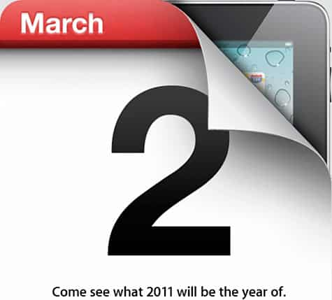 Apple confirms iPad 2 event for March 2