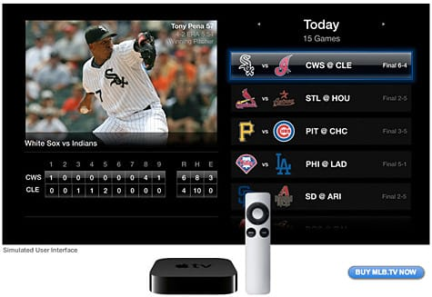 MLB.tv coming to second-generation Apple TV