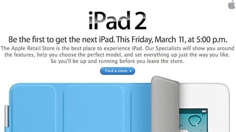 Apple e-mail tries to create iPad 2 lines