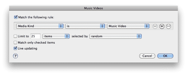 Organizing Music Videos in iTunes