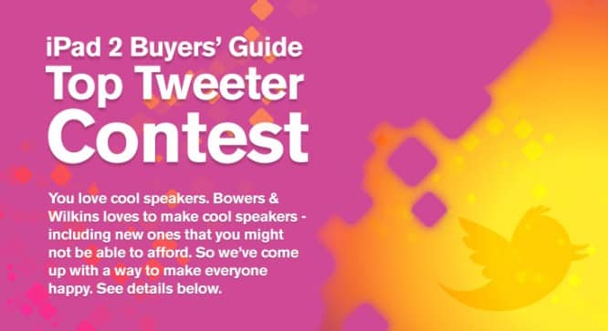 iPad 2 Buyers' Guide Top Tweeter Contest – Winners Announced