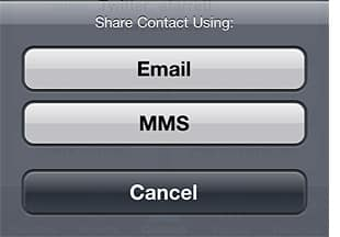 Sharing a Contact in iOS